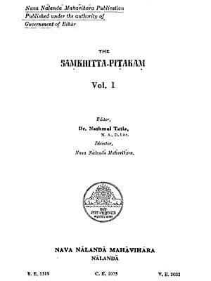 The Samkhitta Pitakam in Pali (An Old and Rare Book)