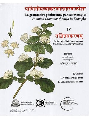 पाणिनीयव्याकरणोदाहरणकोश: (तद्धितप्रकरणम्)- Paninian Grammar Through its Examples (The Book of Secondary Derivatives)