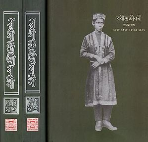 Rabindra Biography and Literary Promoter (Set of Three Volumes in Bengali)
