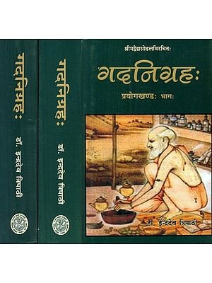 गदनिग्रहः- Gada Nigraha Of Sri Vaidya Sodhala With Hindi Commentary (Set of 3 Volumes)