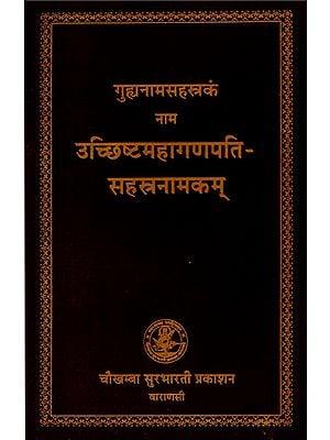 उच्छिष्टमहागणपति सहस्त्रनामकम्- Uchchishta Mahaganapati Sahastranamakam
