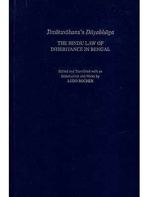 Jimutavahana Dayabhaga (The Hindu Law of Inheritance in Bengal)