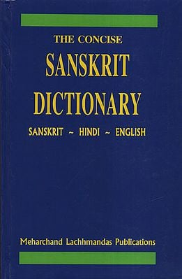The Concise Sanskrit Dictionary (An Old and Rare Book)