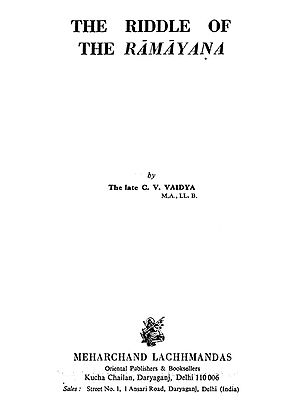 The Riddle of The Ramayana (An Old and Rare Book)