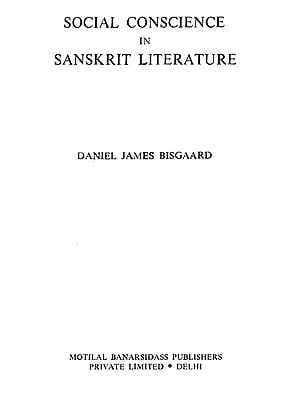 Social Conscience In Sanskrit Literature (An Old and Rare Book)
