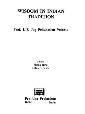 Wisdom in Indian Tradition (An Old and Rare Book)