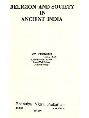 Religion and Society in Ancient India (An Old And Rare Book)