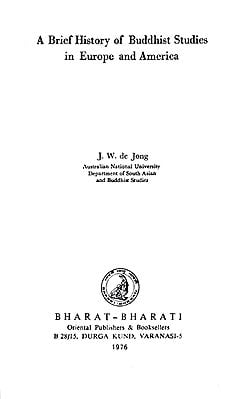 A Brief History of Buddhist Studies in Europe and America (An Old and Rare Book)