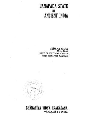 Janapada State in Ancient India (An Old and Rare Book)