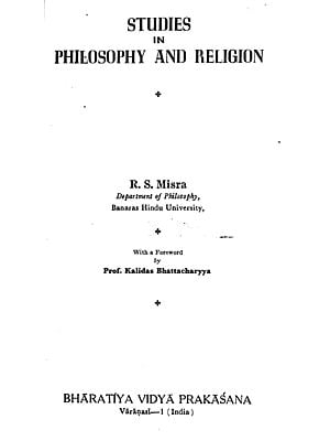 Studies in Philosophy and Religion (An Old and Rare Book)