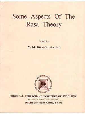 Some Aspects of The Rasa Theory (An Old and Rare Book)