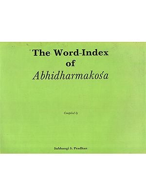 The Word Index of Abhidharmakosa (An Old Book)