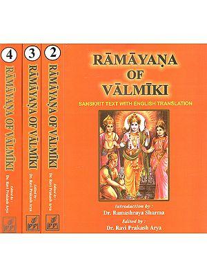 Ramayana of Valmiki (Set of 4 Volumes)
