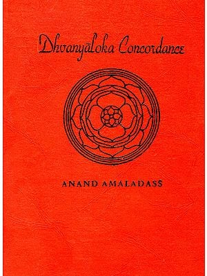 Dhvanyaloka Concordance (An Old and Rare Book)