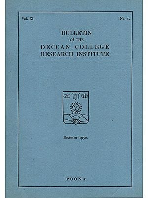 Bulletin of the Deccan College Research Institute (An Old and Rare Book)