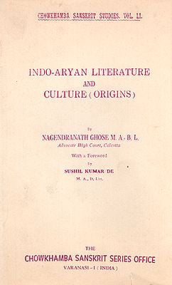 Indo-Aryan Literature and Culture (Origins) - An Old and Rare Book