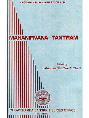 Mahanirvana Tantram (An Old and Rare Book)
