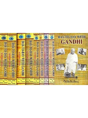 Day-To-Day With Gandhi: Secretary's Diary-Set of 9 Volumes (An Old and Rare Book)