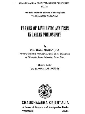 Trends of Linguistic Analysis in Indian Philosophy (And Old Book)