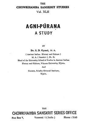 A Study of Agni-Purana (An Old and Rare Book)