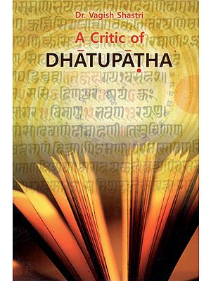 A Critic of Dhatupatha