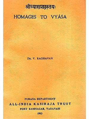 Homages to Vyasa (An Old and Rare Book)