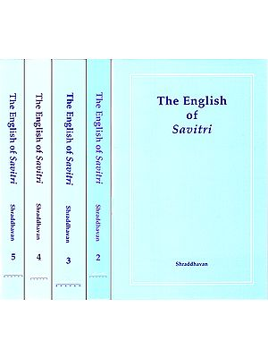 The English of Savitri (Set of 5 Volumes)