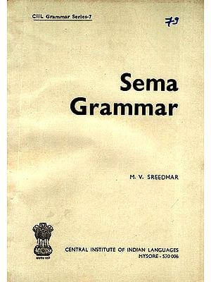 Sema Grammar (An Old and Rare Book)