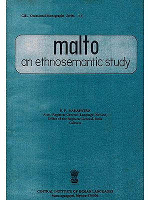 Malto: An Ethnosemantic Study (An Old and Rare Book)