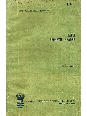 Balti Phonetic Reader (An Old and Rare Book)