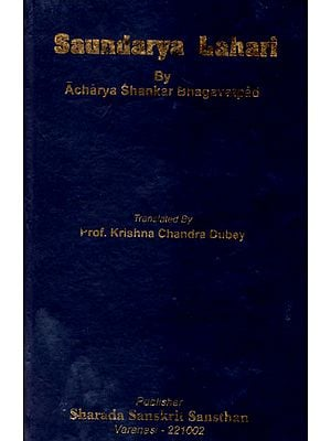 Saundarya Lahari by Acharya Shankar Bhagavatpad (An Old and Rare Book)