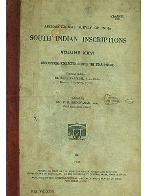 South Indian Inscriptions - Volume XXVI (An Old and Rare Book)
