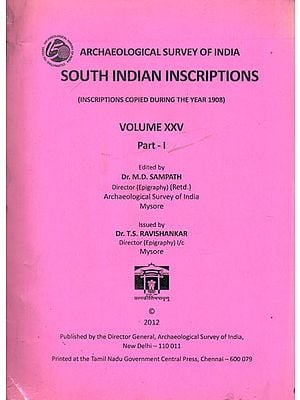South Indian Inscriptions Volume XXV (Part-I)