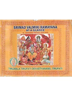Srimad Valmiki Ramayana At A Glance (An Old Book)