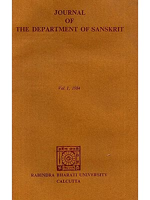 Journal of The Department of Sanskrit- Volume 1, 1984 (An Old Book)