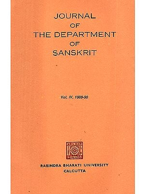 Journal of The Department of Sanskrit- Volume 4, 1989-90 (An Old Book)