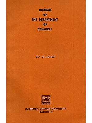 Journal of The Department of Sanskrit- Volume 6, 1994-96