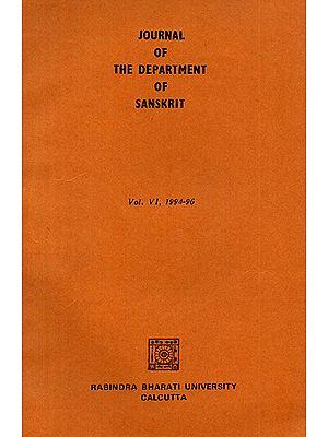 Journal of The Department of Sanskrit- Volume 6, 1994-96
