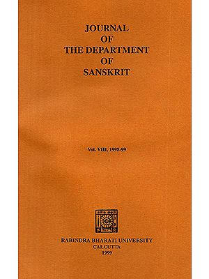 Journal of The Department of Sanskrit- Volume 8, 1998-99