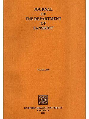 Journal of The Department of Sanskrit- Volume 9, 2000