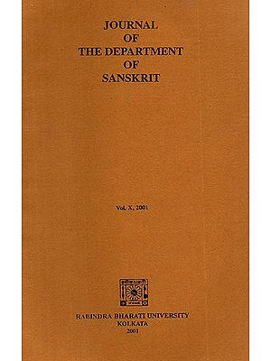 Journal of The Department of Sanskrit- Volume 10, 2001