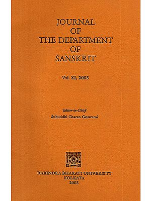 Journal of The Department of Sanskrit- Volume 11, 2003