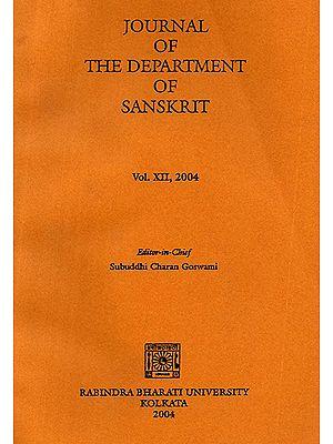 Journal of The Department of Sanskrit- Volume 12, 2004