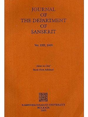 Journal of The Department of Sanskrit- Volume 13, 2005