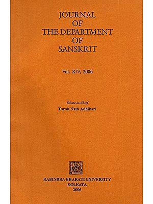 Journal of The Department of Sanskrit- Volume 14, 2006