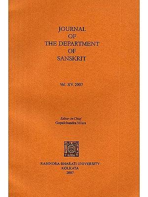 Journal of The Department of Sanskrit- Volume 15, 2007