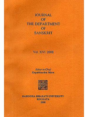 Journal of The Department of Sanskrit- Volume 16, 2008