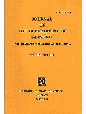 Journal of The Department of Sanskrit- Volume 19, 2013-14