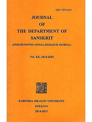Journal of The Department of Sanskrit- Volume 20, 2014-15