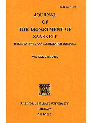 Journal of The Department of Sanskrit- Volume 21, 2015-16